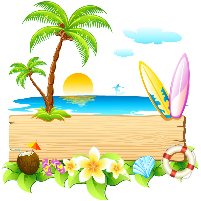 Beautiful Summer Day Poster Vector 4