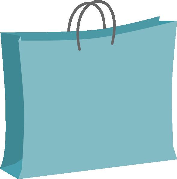 Blue Shopping Bag Clip Art At Clker Com   Vector Clip Art Online