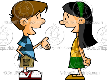Cartoon Kids Talking   Cartoon Boy And Girl Talking Pictures   Clipart