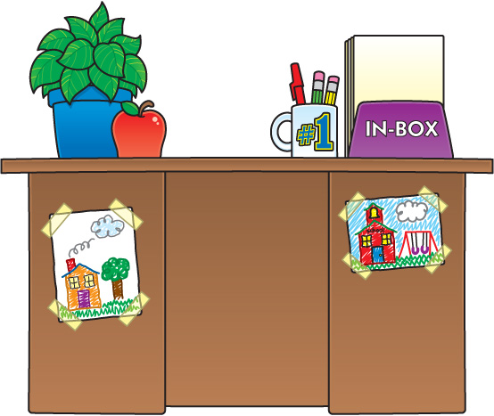 Teacher Desk Clipart - Clipart Kid