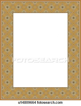 Clipart   Gold Wheat Pattern Border  Fotosearch   Search Clip Art