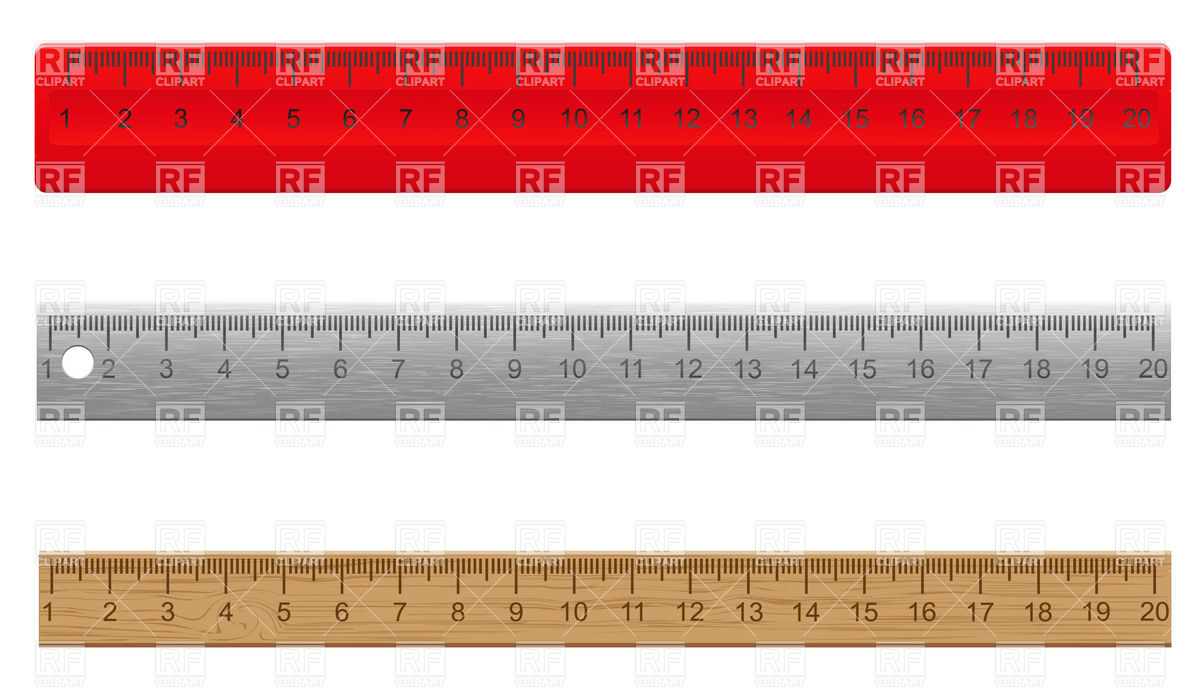 Clipart Ruler Border Wooden And Metal Rulers