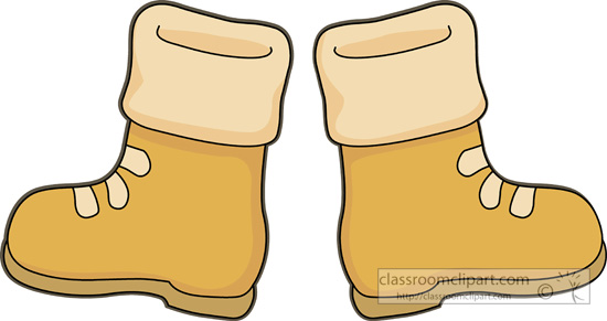 Clothing   Winter Boots 03   Classroom Clipart