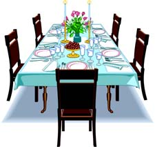 Dinner Table Clip Art Dinner Table Setting Clipart Gyk65kw6 Jpg