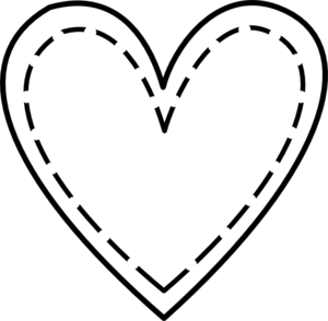 Black And White Heart Outline Clipart - Clipart Kid