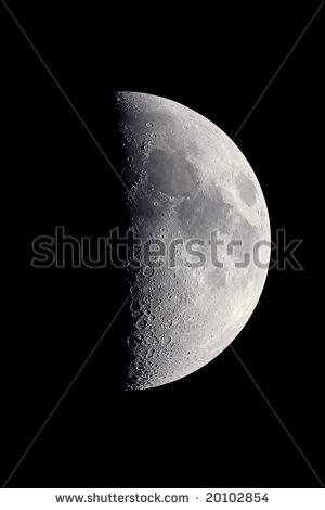 First Quarter Moon Clipart First Quarter Moon