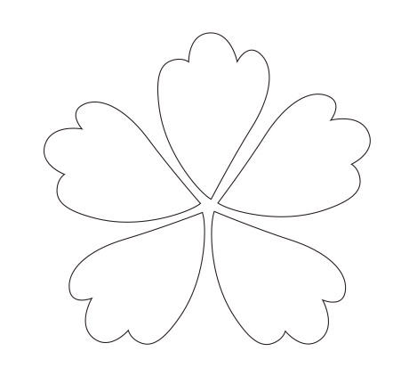 Four Petals Flowerse Colouring Pages