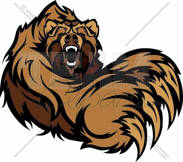 Grizzly Bear Mascot Claws Clipart Image   Team Clipart  Com   Quality