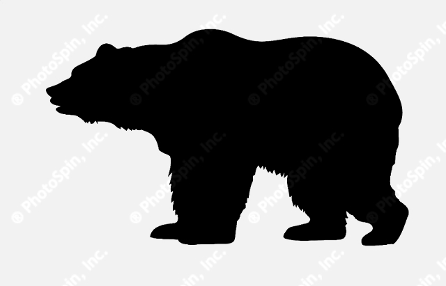Grizzly Bear Silhouette Vector   Clipart Panda   Free Clipart Images