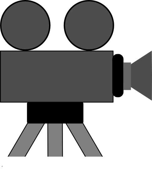 Movie Camera Clip Art At Clker Com   Vector Clip Art Online Royalty