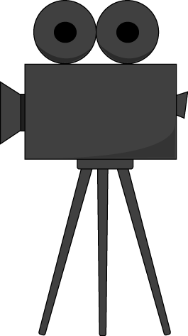 Old Movie Camera Clip Art Image   Old Fashioned Movie Camera On A