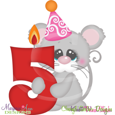 Party Animal 5th Birthday Cutting Files Includes Clipart    1 50