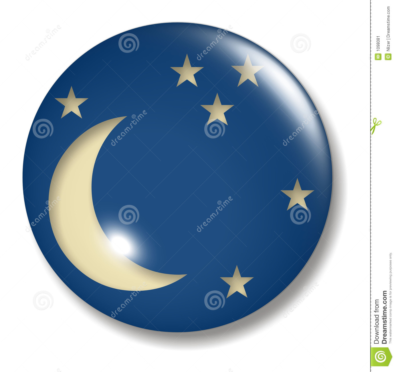 Quarter Moon Clipart Quarter Moon Button Orb