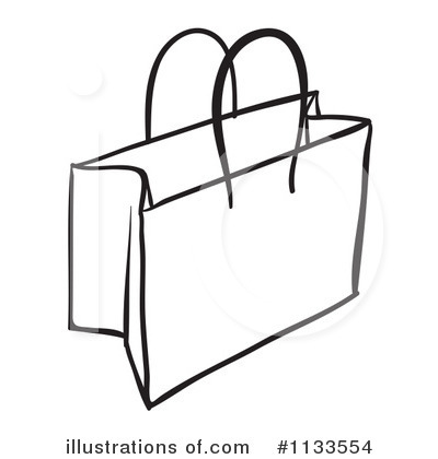 shopping bag black and white clipart clipart suggest