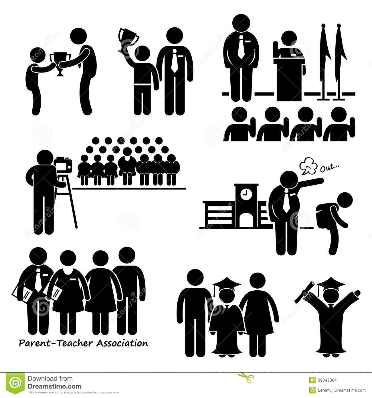 School Events Clipart Stock Vector   Image  39047364