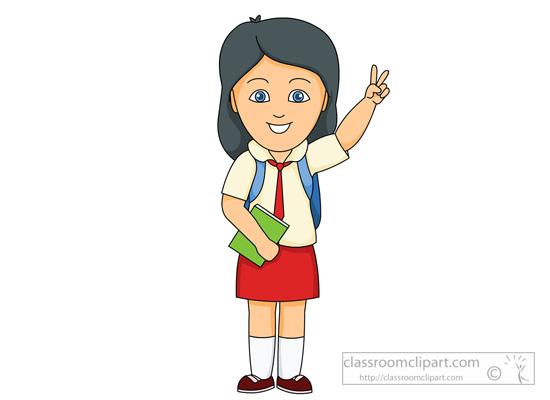 Clip Art Clip Art Student girl student clipart kid school wearing uniform classroom clipart