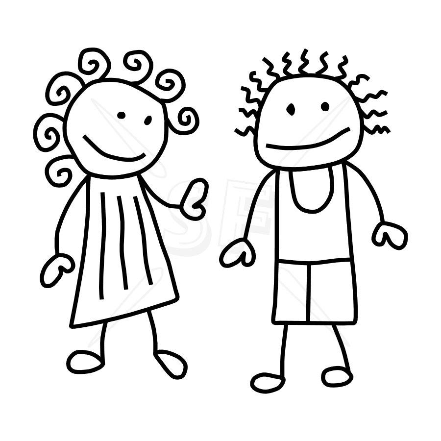Clip Art Stick Figure Family Clipart - Clipart Kid