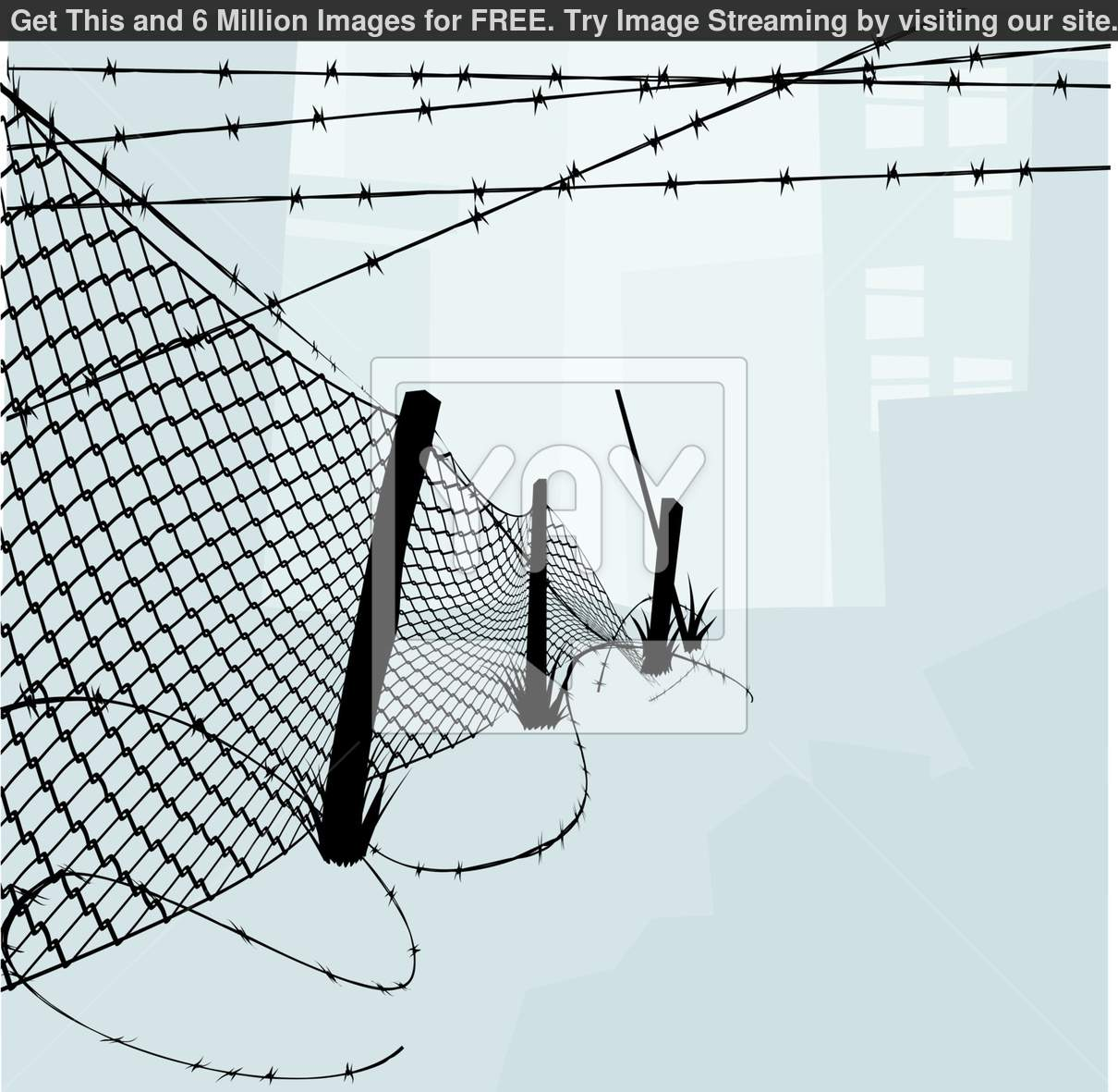 Wire Clip Art : Barbed wire fence clipart suggest