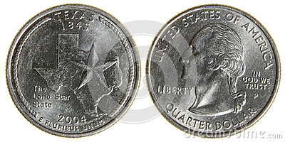 Both Sides Of An 2004 Us Quarter Featuring The State Of Texas