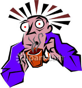 Caffeine Freak   Royalty Free Clipart Picture