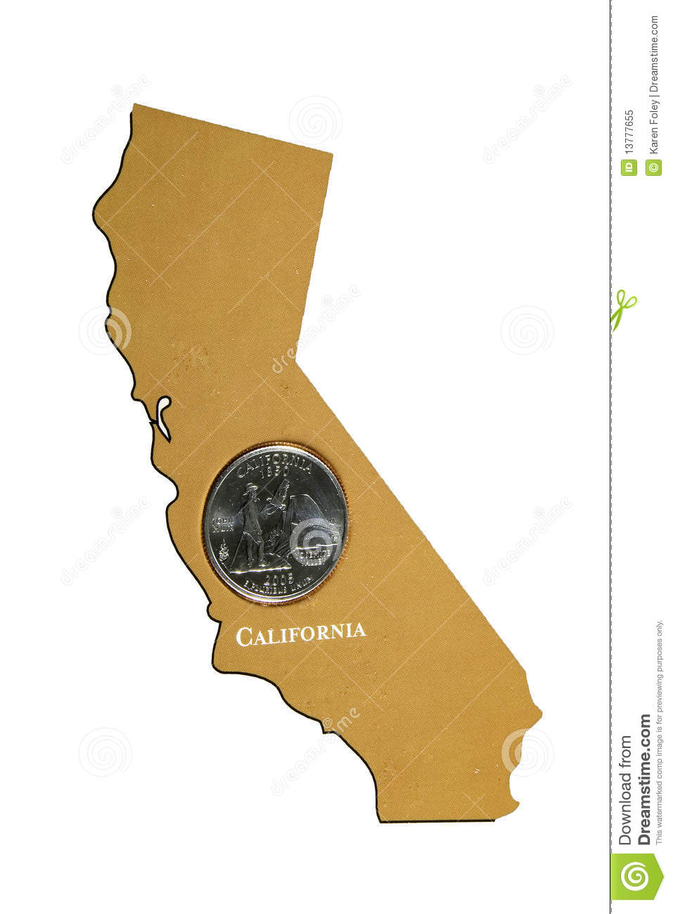 California State Quarter Royalty Free Stock Photo   Image  13777655