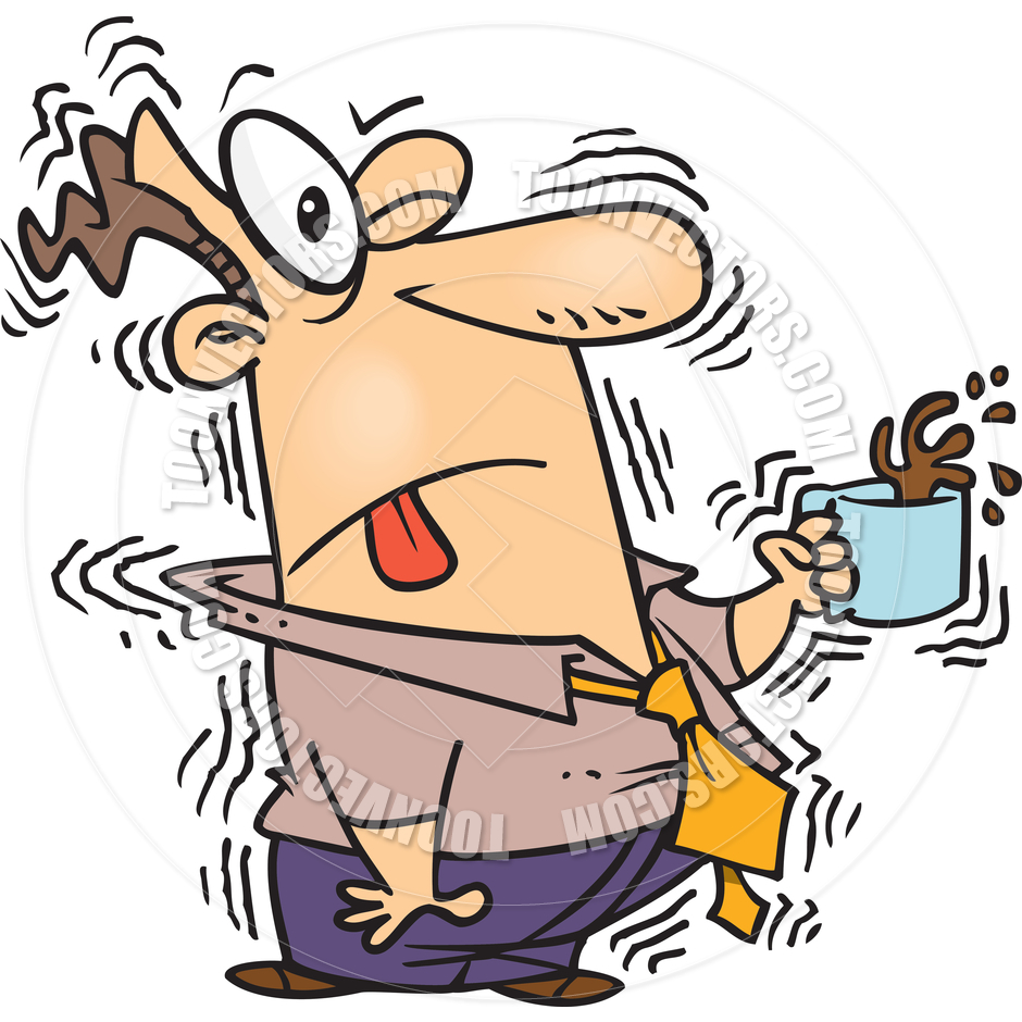 Cartoon Caffeine Overdose By Ron Leishman   Toon Vectors Eps  12253