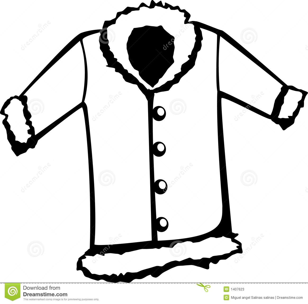 Clip Art Coat Clip Art clip art fur coat clipart kid vector illustration stock photos image 1407623
