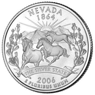 Reverse Coin Side  Tails  Of The Nevada Quarter