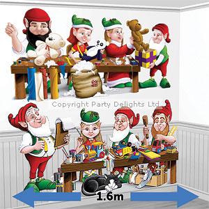 Santa workshop elves