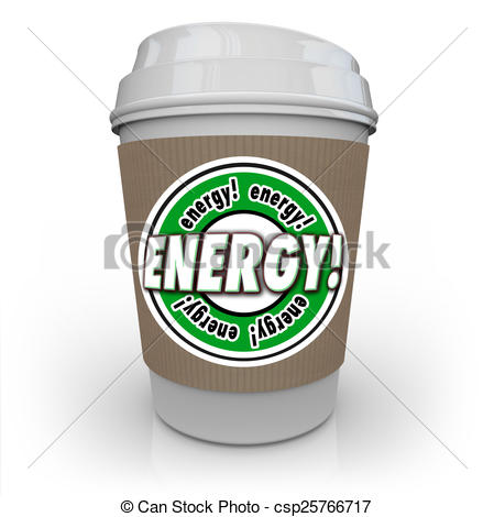 Stock Illustration   Energy Drink Coffee Caffeine Cup Beverage Power