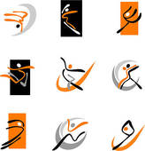 Abstract Dancers 1   Clipart Graphic