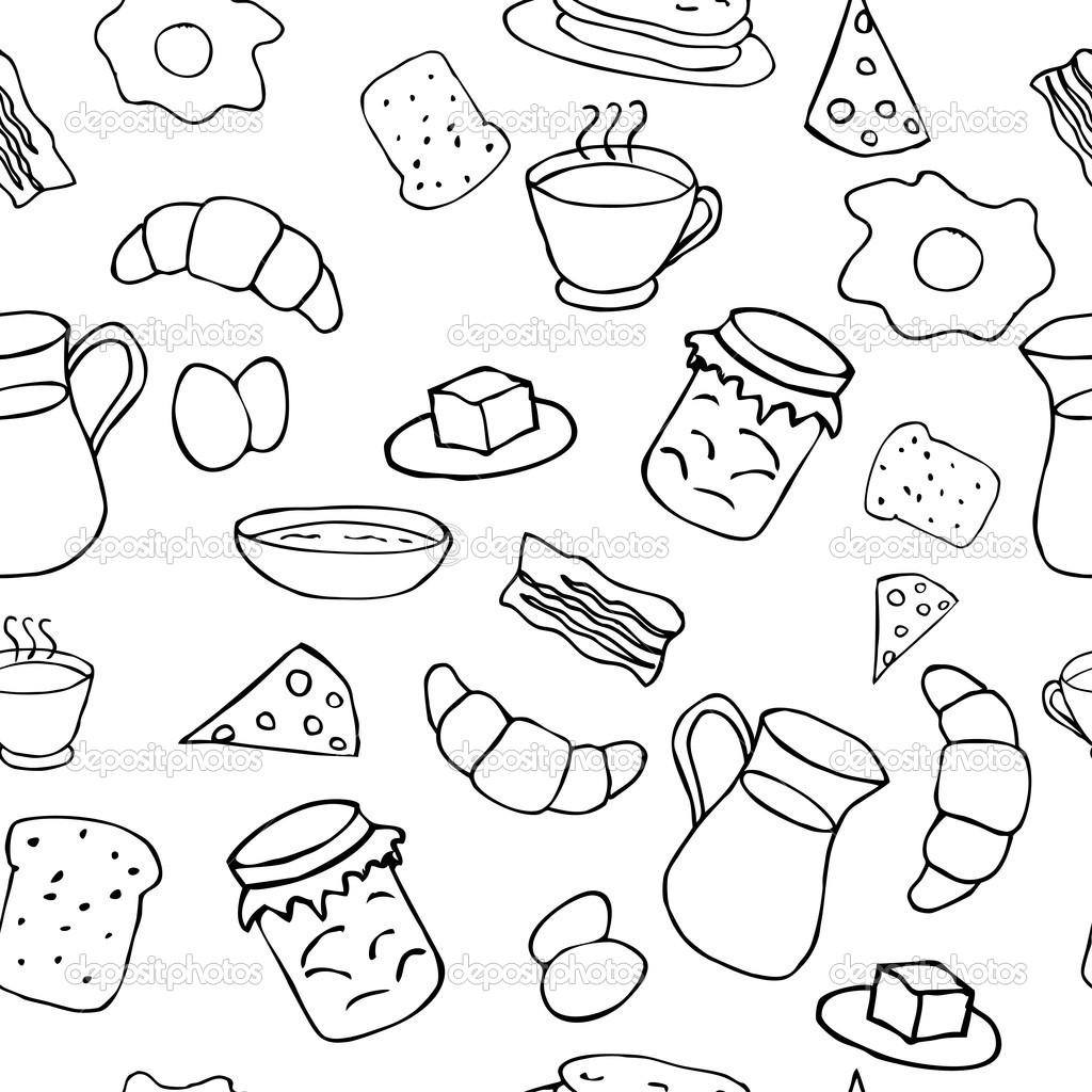 Breakfast Clipart Black And White Black And White Breakfast