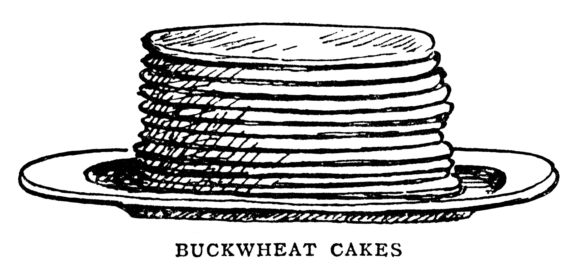 Breakfast Food Clipart Black And White Graphics Mrs Beeton Pancakes