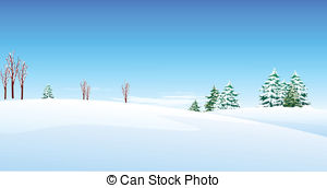 Clip Art Vector And Illustration  769 Snow Covered Landscape Clipart