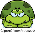 Clipart Angry Green Tortoise Turtle Royalty Free Vector Illustration