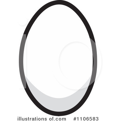 Yolk black and white clipart