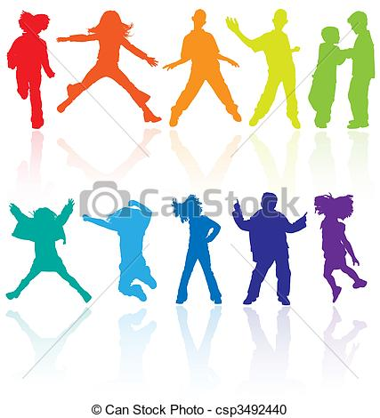 Dance Jump Clipart Colored Dancing Jumping