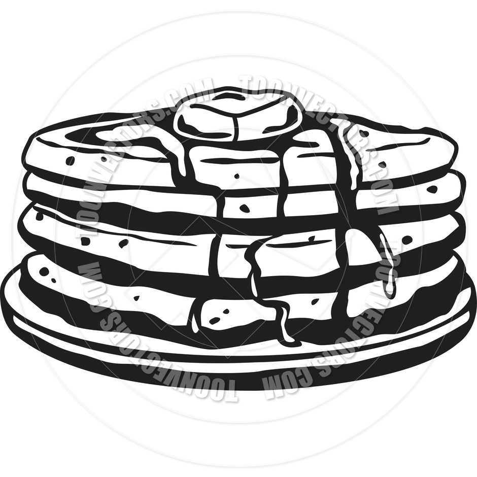 Flip Pancake Black And White Clipart