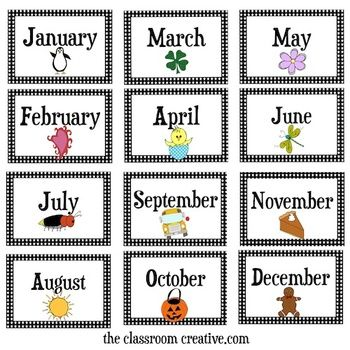 Months Of The Year Clipart - Clipart Kid