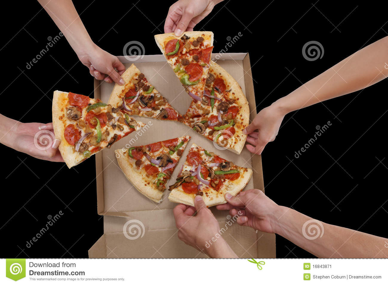 People Eating Pizza Stock Image   Image  16843871