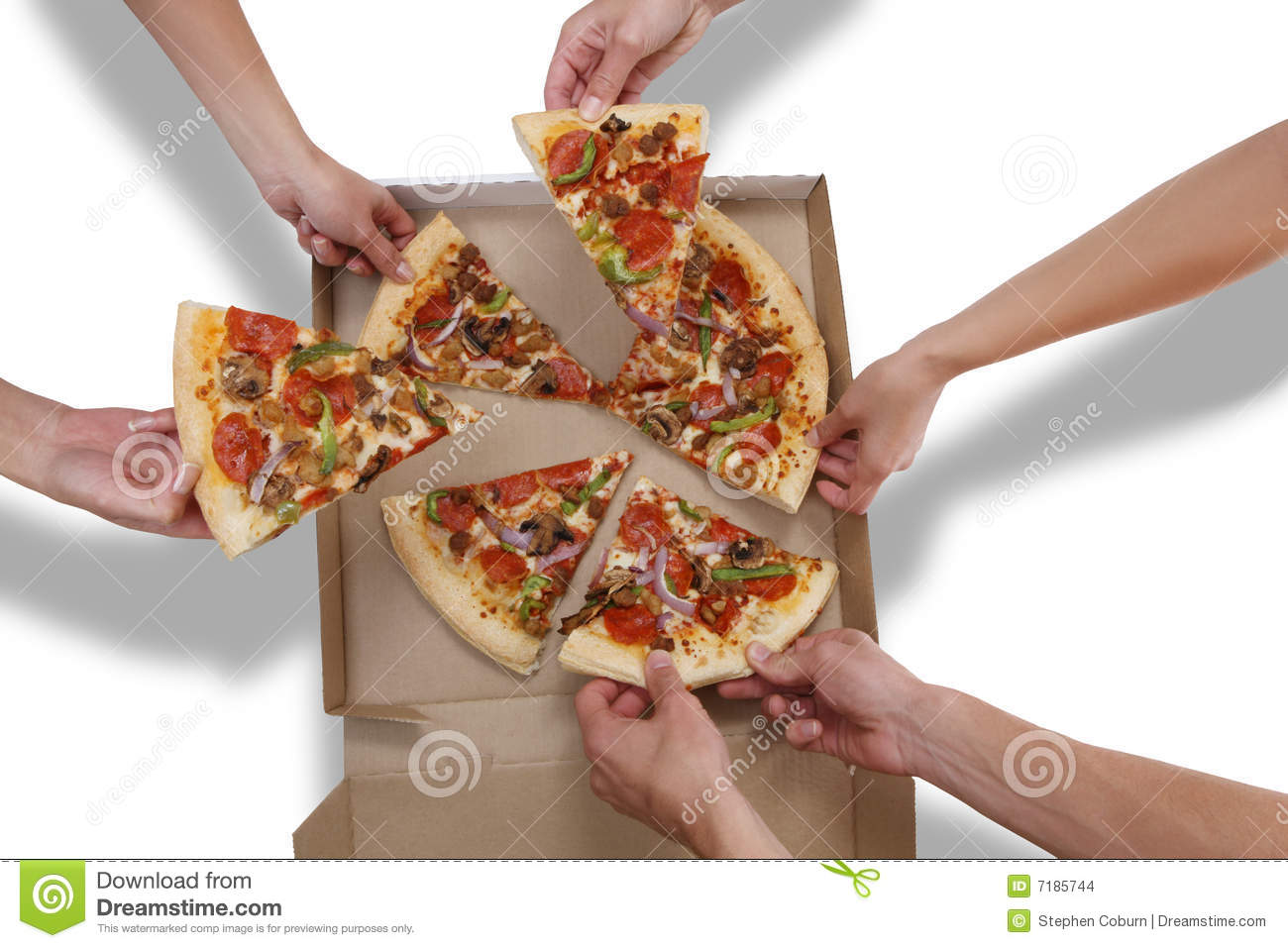 People Eating Pizza Stock Images   Image  7185744