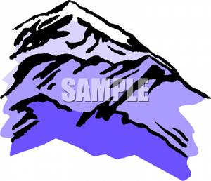 Snowy Mountain   Royalty Free Clipart Picture