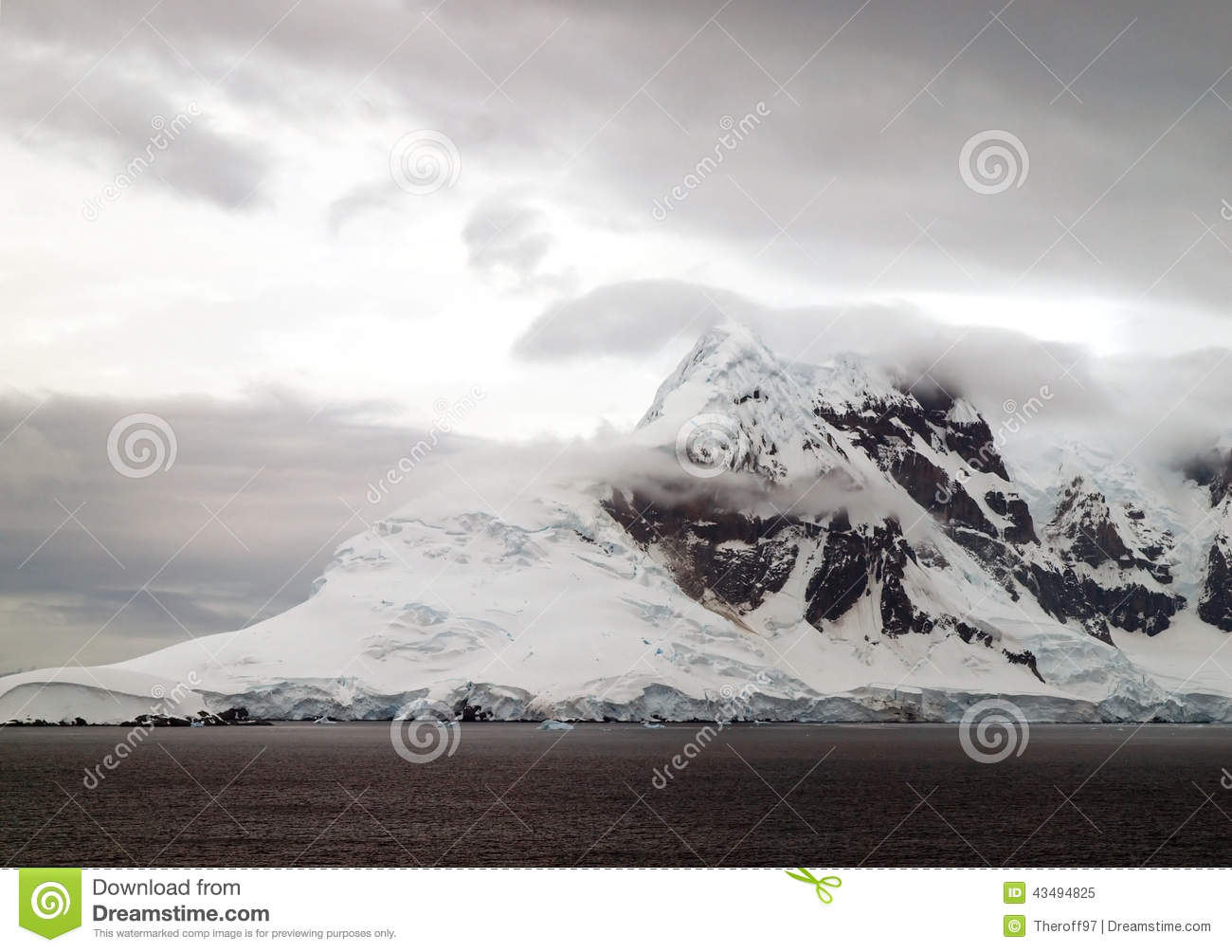 The Icy And Mountainous Landscape Of Antarctica