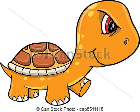 Vector   Angry Mad Orange Turtle Vector   Stock Illustration Royalty