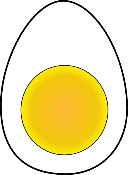 Black And White Of Egg Yolk Clipart Clipart Suggest