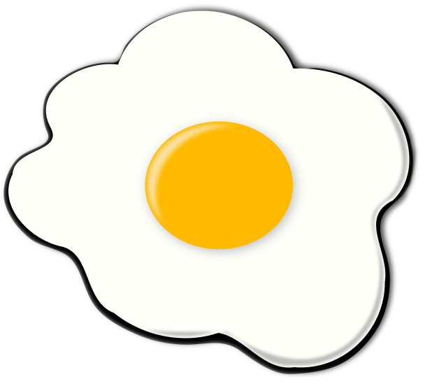 Yolk Clipart Black And White Fried Egg Sunny Png
