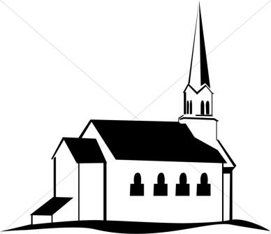Church Outline Clipart - Clipart Kid