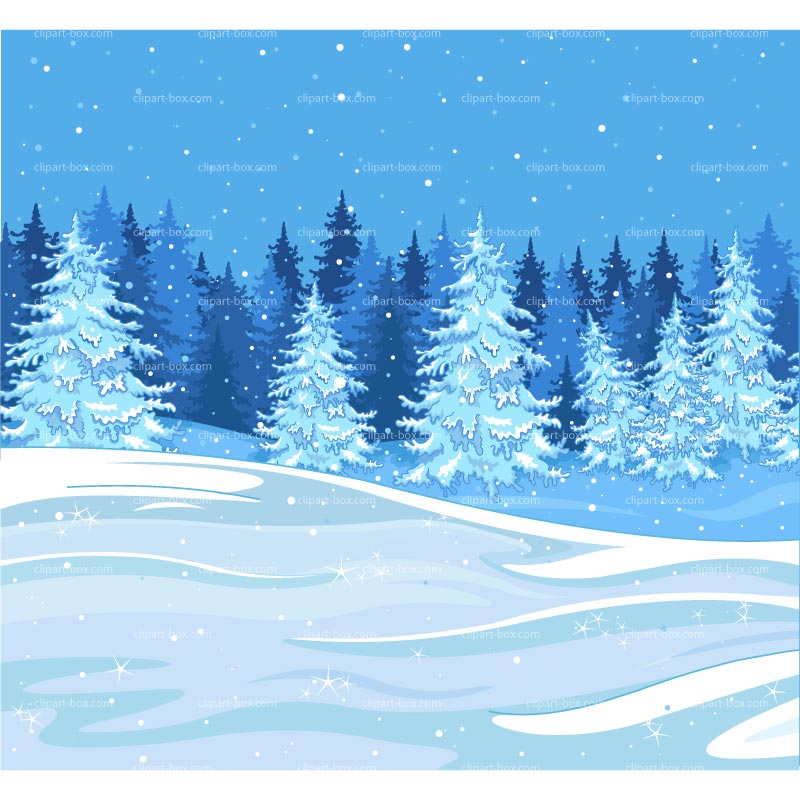 Winter Forest Scene Clipart - Clipart Suggest