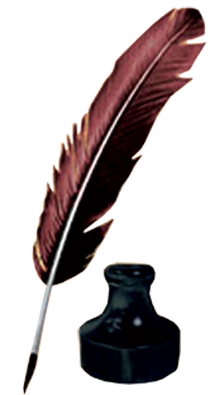 Feather Pen And Ink Clipart - Clipart - 58.0KB