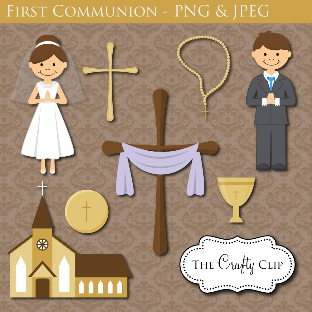 First Holy Communion Clip Art First Communion Clipart Set